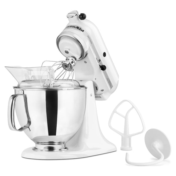 KitchenAid KSM150PSWH White 5 Quart Artisan Tilt Head Stand Mixer