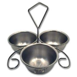 Vollrath Chrome Plated Wire Rack with Bowls - Thumbnail 1