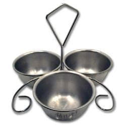 Vollrath Chrome Plated Wire Rack with Bowls - Thumbnail 2