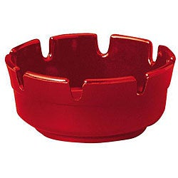 Gessner 4-in Red Plastic Round Ashtray (Case of 72)