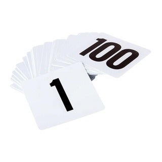 Tablecraft Numbers 1-100 Table Number Card Set