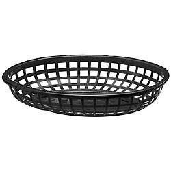 Tablecraft Black Stackable Basket (Case of 36)