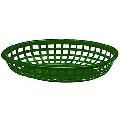 Tablecraft Green Stackable Baskets (Case of 36)