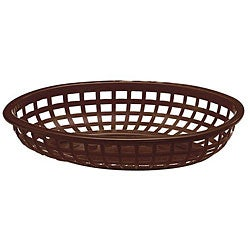 Tablecraft Brown Stackable Baskets (Case of 36)