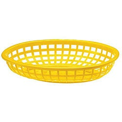 Tablecraft Yellow Stackable Baskets (Case of 36)
