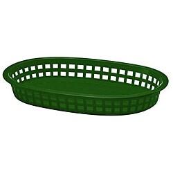 Tablecraft Green Stackable Basket (Case of 36)