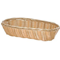 Tablecraft Oblong Woven Wicker Basket (Pack of 12)