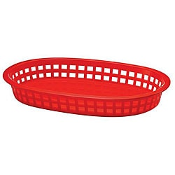 Tablecraft Red Stackable Basket (Case of 36)