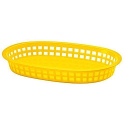 Tablecraft Yellow Stackable Basket (Case of 36)
