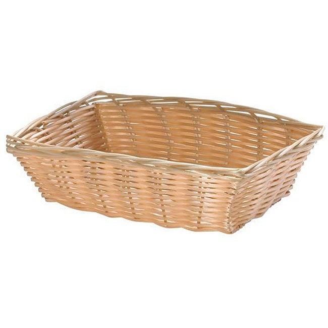 Tablecraft Rectangle Woven Wicker Basket (Pack of 12)
