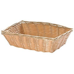 Tablecraft Rectangle Woven Wicker Basket (Pack of 12) - Thumbnail 0