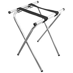 Admiral Craft Equipment Deluxe Folding Chrome Tray Stand