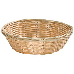 Tablecraft Round Woven Wicker Basket (Pack of 12)