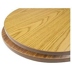 30-in Round Walnut/ Oak Tabletop