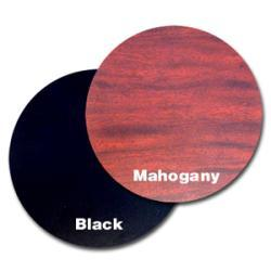 36-in Round Mahogany/ Black Tabletop - Thumbnail 1