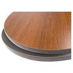 36-in Round Mahogany/ Black Tabletop - Thumbnail 0