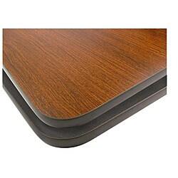 Rectangular 24-in x 30-in Mahogany/ Black Tabletop