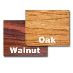 Rectangular 30-in x 42-in Walnut/Oak Tabletop - Thumbnail 1