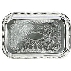 Admiral Craft Equipment Oblong Chrome Dining Tray