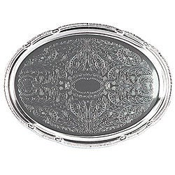 Admiral Craft Equipment Oval Chrome Tray