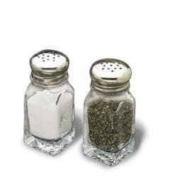 Tablecraft 2-oz Square Salt and Pepper Shakers Square (Case of 48) - Thumbnail 1