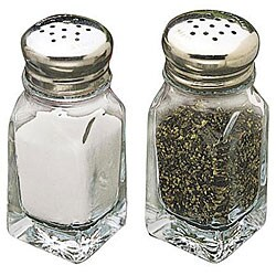 Tablecraft 2-oz Square Salt and Pepper Shakers Square (Case of 48)