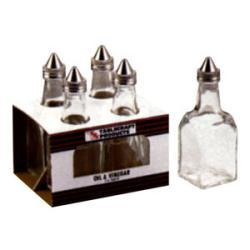 Tablecraft 6-oz Glass Salt and Pepper Shakers (Case of 16)