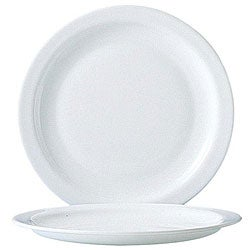 Cardinal International 9.25-in White Narrow Rim Plates (Case of 24)