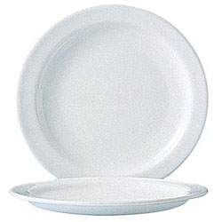 Cardinal International 6-in White Arcoroc Narrow Rim Plates (Case of 24)