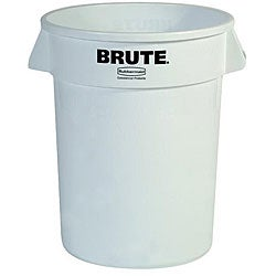Rubbermaid Commercial 32-gallon White Brute Container