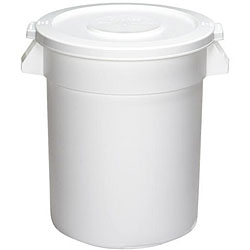 Continental Manufacturing 10 Gallon Round White Huskee Container