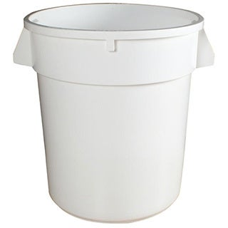 Continental Manufacturing 20-gallon Round White Huskee Container
