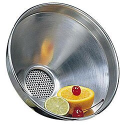 American Metalcraft 7-in Aluminum Funnel with Strainer