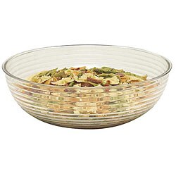 Cambro 15-in Clear Round Ribbed Salad Bowl