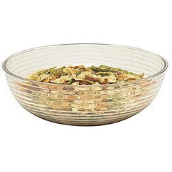 Cambro 18-in Clear Round Ribbed Salad Bowl