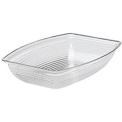 Cambro 10x14-in Clear Ribbed Salad Bowl
