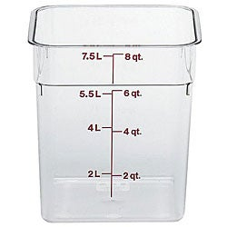 Cambro 8 quart Clear Square Container
