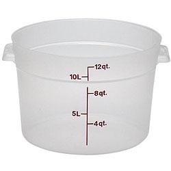 Cambro 12 quart Translucent Round Container