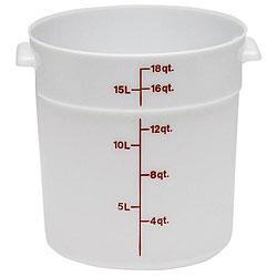 Cambro 18 quart White Round Container