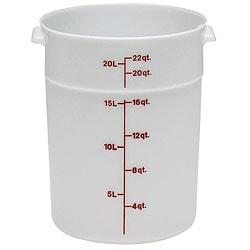 Cambro 22 quart White Round Container