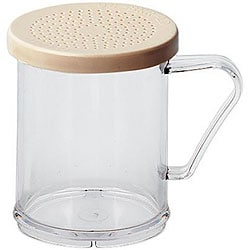 Cambro Clear 10-oz Shaker/ Dredge with Salt/ Pepper Lid