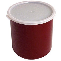Cambro Redish Brown 2.7 Quart Crock With Lid