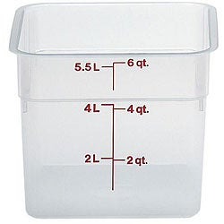 Cambro 6 Quart Translucent Square Container