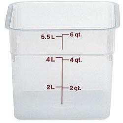 Cambro 6 Quart Translucent Square Container