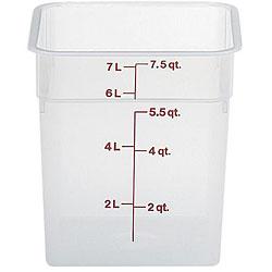 Cambro 8 Quart Translucent Square Container