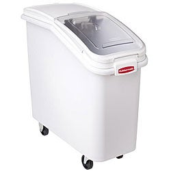 Rubbermaid Hinged Lid White Ingredient Bin