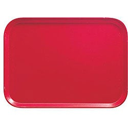 Cambro Red Fast Food Tray (Case of 24)