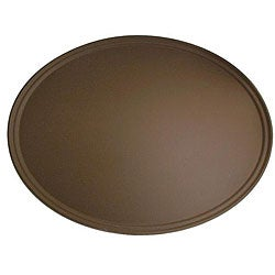 Cambro Tan Oval Tavern Tray