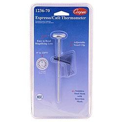 Cooper Instrument 5-in Stem Espresso Thermometer