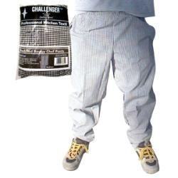 CHALLENGER Medium Black And White Elastic Chef Pant